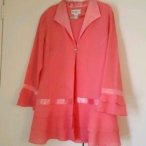 3- piece coral evening suit
